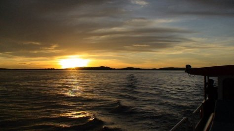 Sunset on Lake Victoria Mwanza Cruise, Mwanza Tanzania