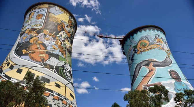 Bungee jumping at Orlando Towers, Soweto, Johannesburg