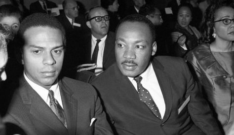 Andrew Young and Martin Luther King, Jr in Geneva, May 1967