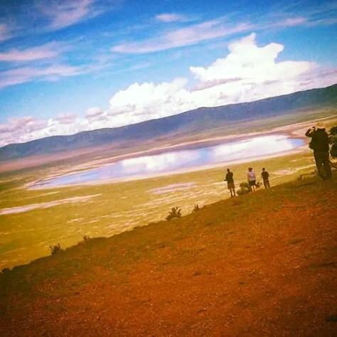 The Ngorongoro Crater with yellow tint, Tanzania