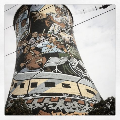 One of the Orlando Towers, Soweto, Johannesburg, South Africa