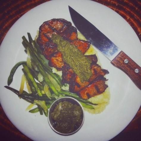 Food at Heaven Restaurant in Kigali