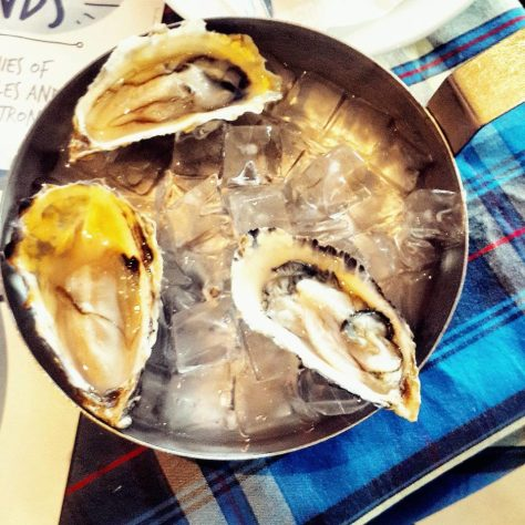 Oysters at the Ocean Basket, Gaborone, Botswana not Holy Crepe Kololo
