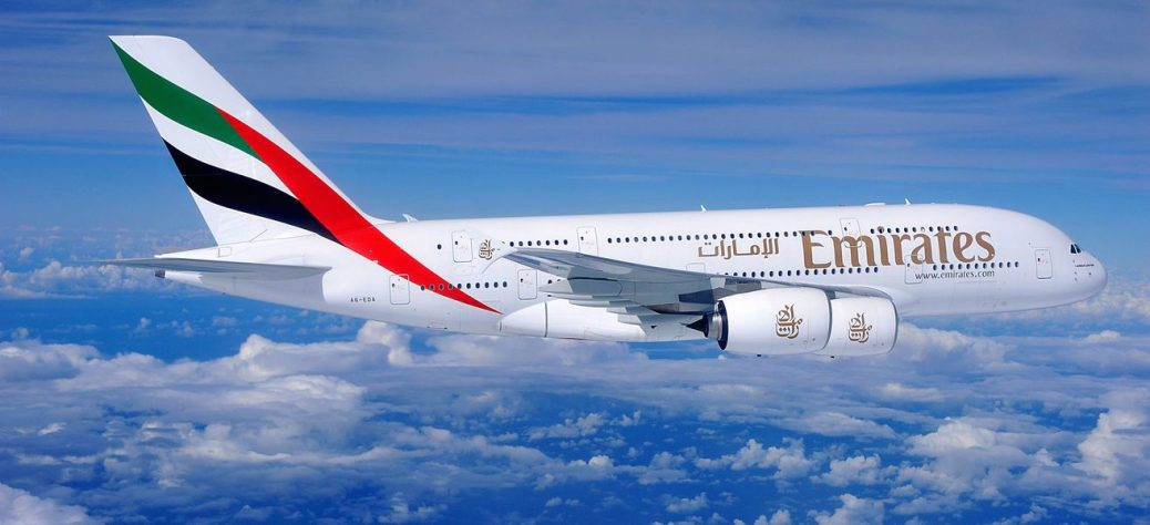 Emirates A380 aircraft on one of its flights