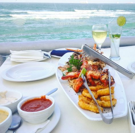 Seafood platter at Karambezi Cafe Dar es Salaam