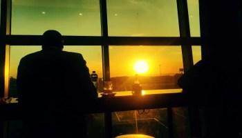Sunset at Jomo Kenyatta International Airport, Nairobi, Kenya
