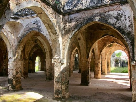 Inside The Great Mosque of Kilwa