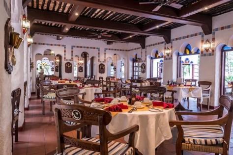 Dining at the Serena Beach Resort and Spa in Shanzu, Mombasa, Kenya