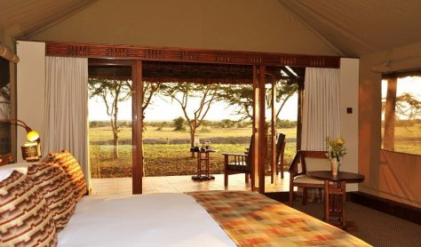 A luxury tent at Sweetwaters Serena Camp