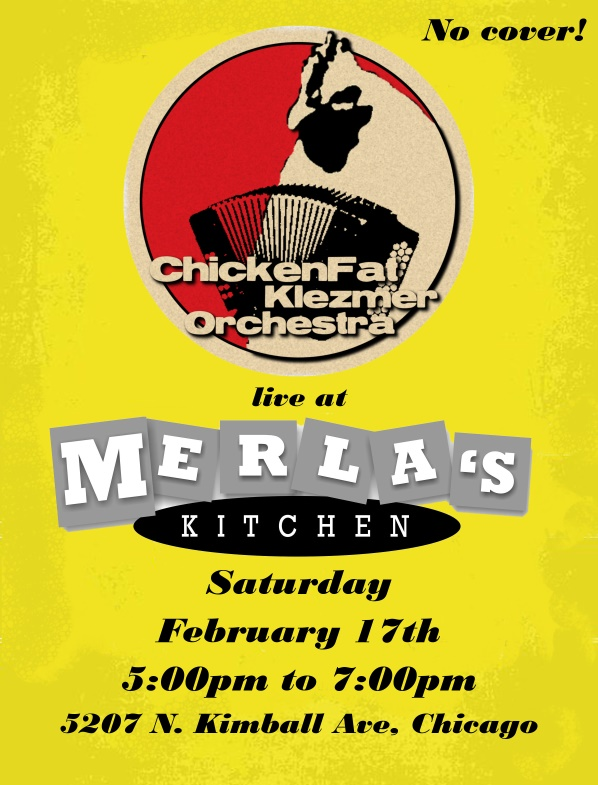 ChickenFat KLezmer at Merlas February 2018 Poster