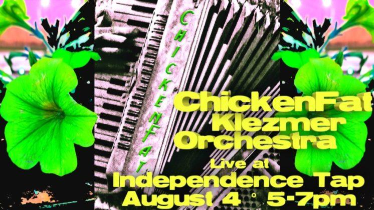ChickenFat Klezmer Orchestra concert poster - August 2019