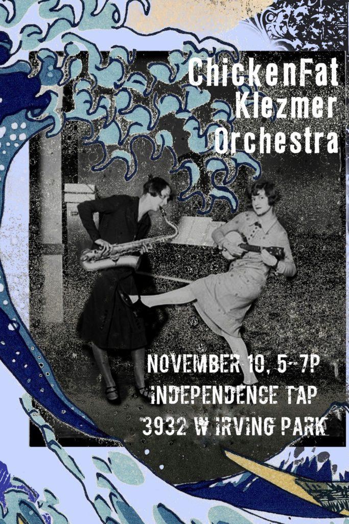 ChickenFat Klezmer Band Concert Poster November 10, 2019