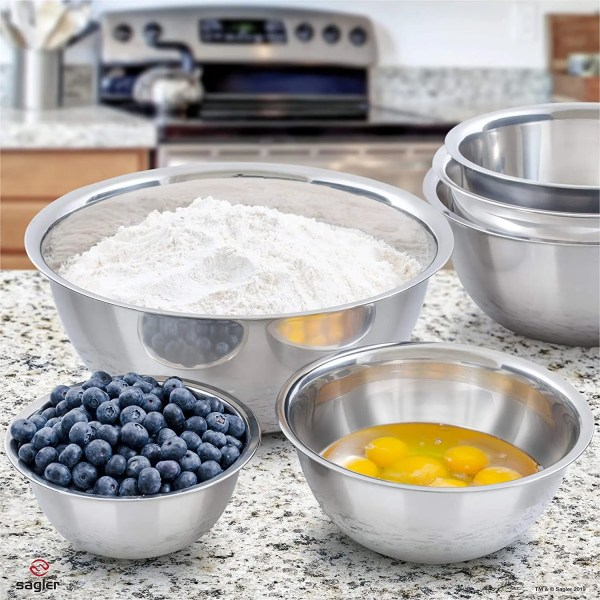 Great Value 6 Stainless Steel Mixing Bowl Set Uses