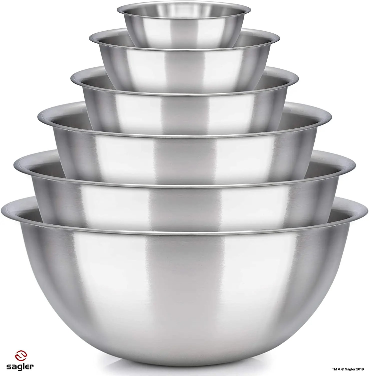 Great Value 6 Stainless Steel Mixing Bowl Set