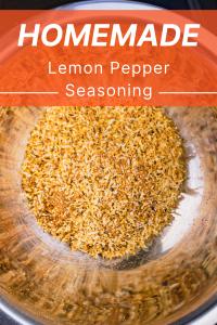 Homemade Lemon Pepper Seasoning 1
