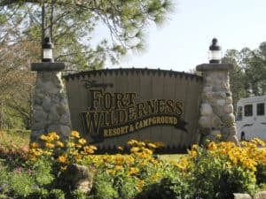 Fort Wilderness Entry Sign