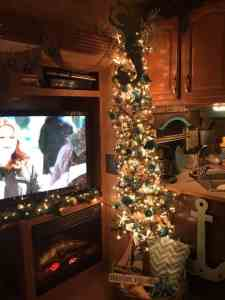 rv beach themed christmas tree - Christmas Camper Decoration