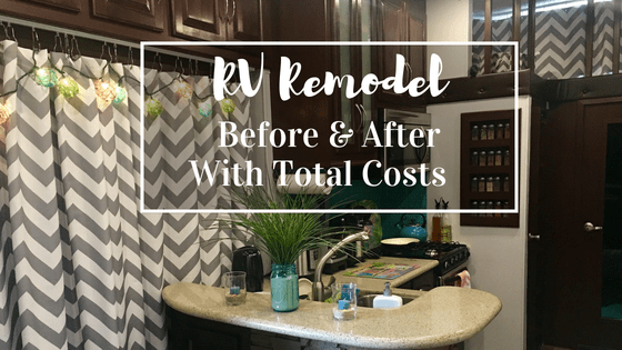 rv remodel costs and before and after pictures of the entire makeover