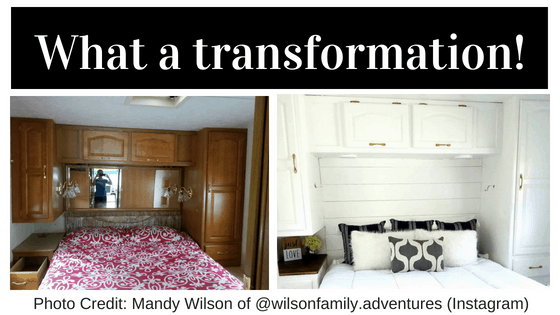 RV Bedroom Makeover - Chickery's Travels