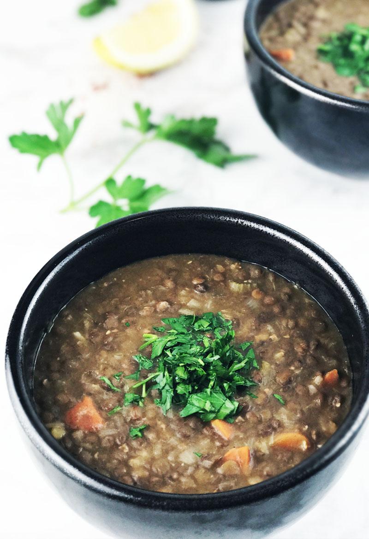 Favorite lentil soup {pressure cooker recipe}