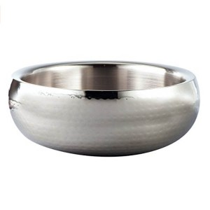 hammered steel bowl