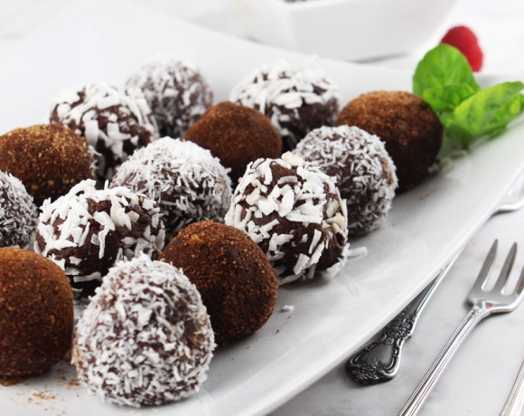 Raw cacao truffle balls
