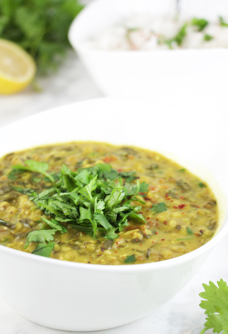 Spinach dal (pressure cooker recipe) {Video}