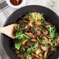quinoa & shiitake mushroom salad
