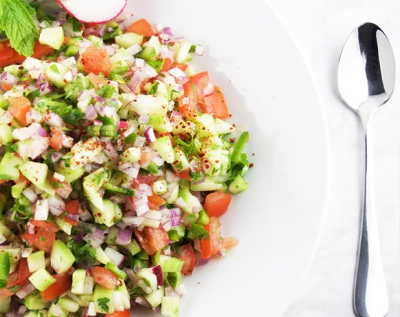INDIAN CUCUMBER TOMATO ONION SALAD (KACHUMBER SALAD)