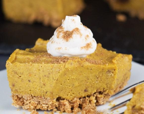 No-bake pumpkin squares