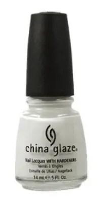30 White Nail Polishes Under 10 Dollars | China Glaze Nail Polish, White On White | Chiclypoised.com