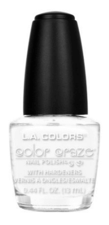 30 White Nail Polishes Under 10 Dollars | LA Colors Color Craze Nail Polish, Energy Source | Chiclypoised.com