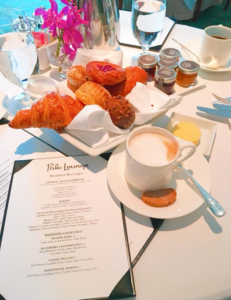 A Rock Star Breakfast At The Polo Lounge.