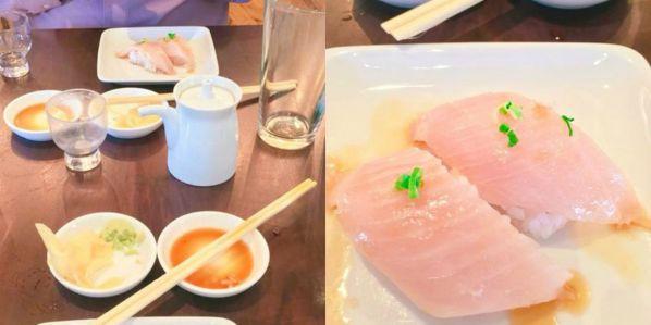 A third Sugar Fish collage of sushi