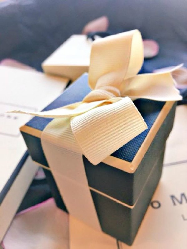 A pretty Jo Malone box wrapped in a chic ribbon.