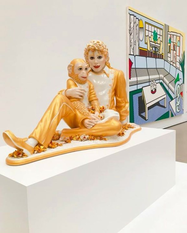 Michael Jackson and his chimp at the Broad