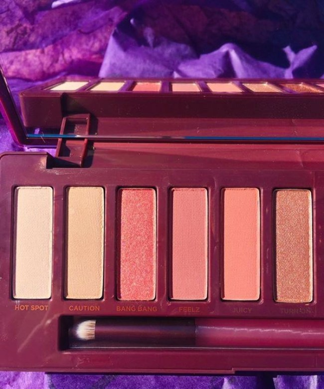 First half of the Urban Decay makeup palette