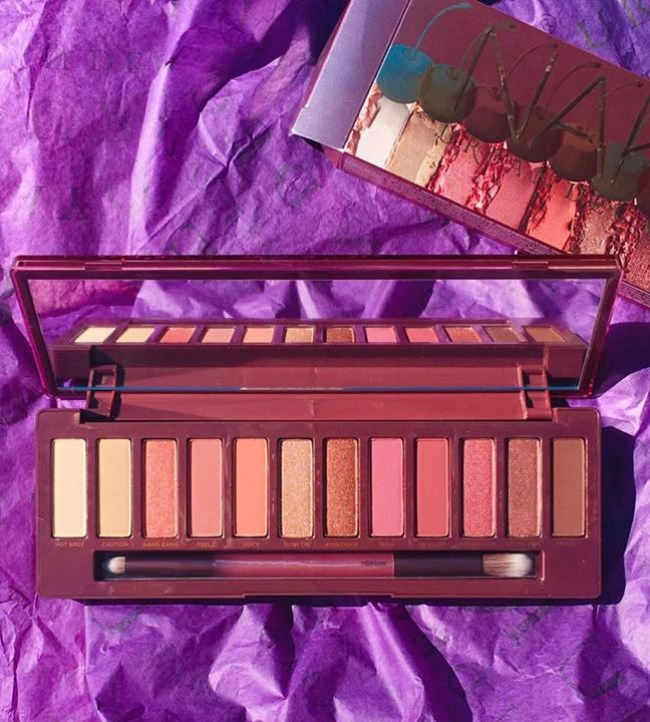 A cherry bomb eyeshadow palette from Urban Decay