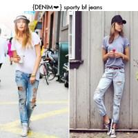 Ripped & Sporty Boyfriend Jeans