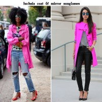 Coat & Skirt. Fuchsia