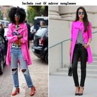 Coat & Skirt. Fuchsia