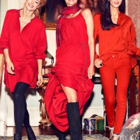 Christy Turlington. Doutzen Kroes. Liu Wen. H&M. Christmas 2013