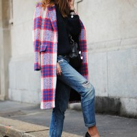 look of the day || THE PLAID COAT. ZINA CHARKOPLIA