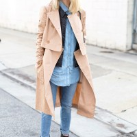 Tibi Trench Coat. Courtney Trop