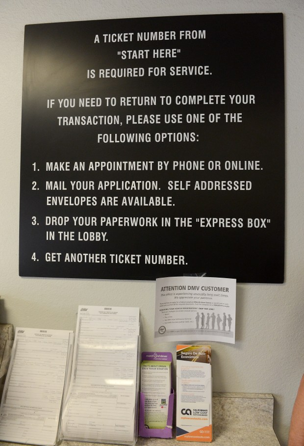 Appointment disappointment at DMV offices in Butte County
