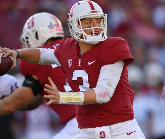 Costello 3 Of The Stanford Cardinal Looks To Pass Against The Washington State Cougars During The First Half Of Their Ncaa Football Game At Stanford