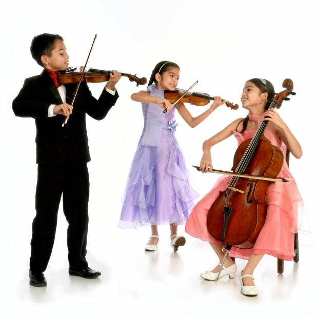The Little Stars String Trio, Dustin (8), Valery (10) and Starla Breshears (11)
