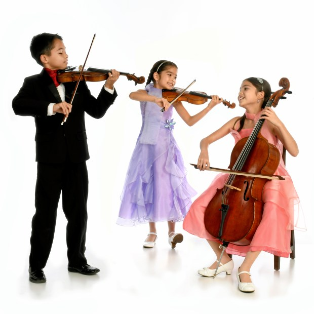 The Little Stars String Trio, Dustin (8), Valery (10) and Starla Breshears (11)