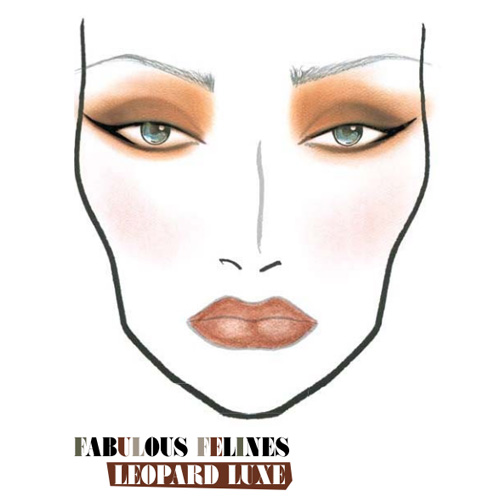 MAC FALL 2010 Fabulous Felines Leapord Luxe Face Chart MAC Fabulous Felines Leopard Luxe Collection for Fall 2010 – Face Chart + Makeup Tutorial