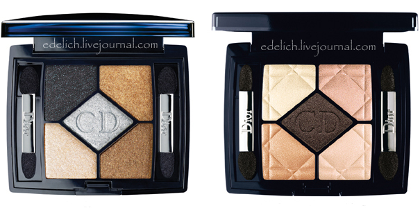 Dior Holiday 2010 5 color eyeshadow palette Dior Minaudiere Holiday 2010 Makeup Collection New Photos